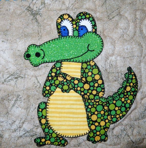 Crocodile or alligator PDF applique pattern zoo by MsPDesignsUSA