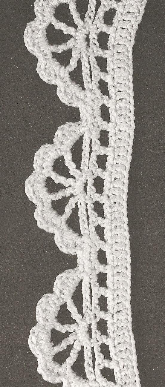 les bordures au crochet 50 le monde de c l naa crochet edging patterns crochet edgings and. Black Bedroom Furniture Sets. Home Design Ideas