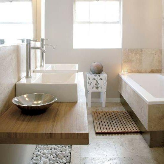 holzpaletten waschbecken fenster eingebaut badewanne Badezimmer - designer badewannen moderne bad