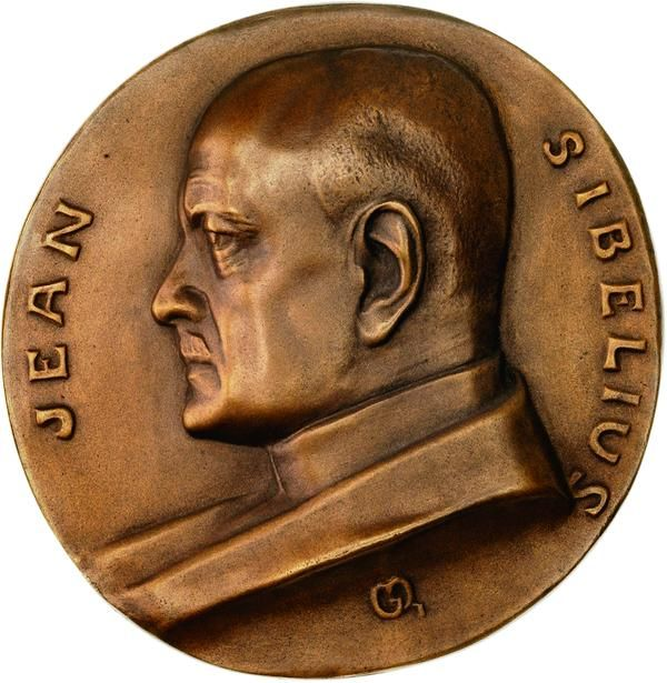 1923 Qvist medal honoring the great Finnish national composer Jean Sibelius.