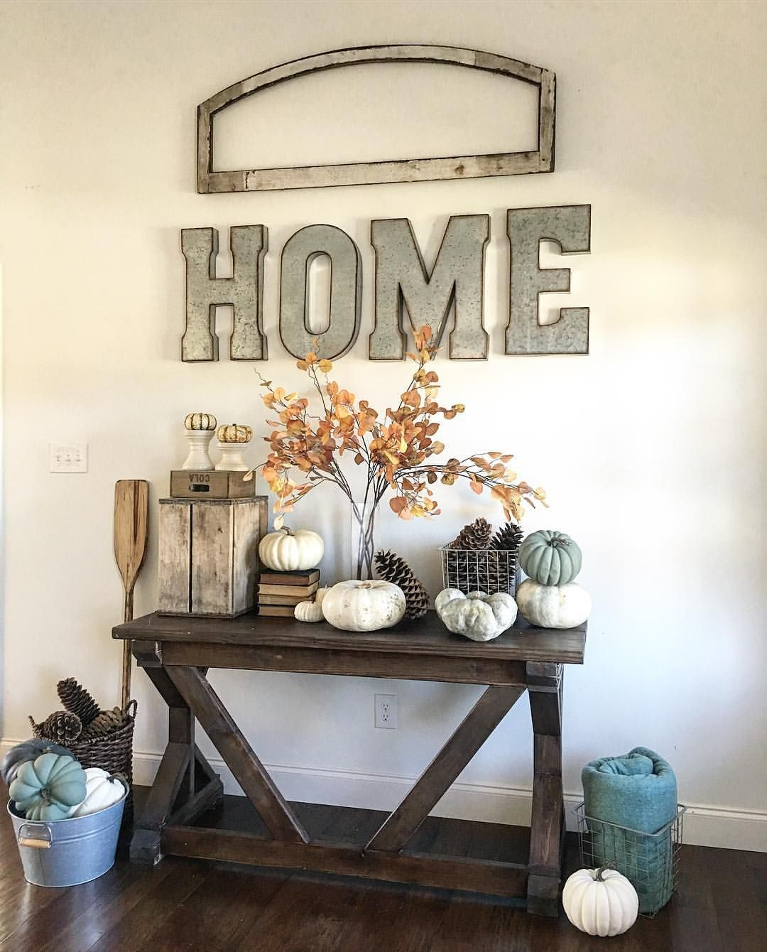 I have these HOME decor wall letters! Here's a way to