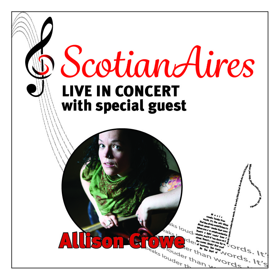 Just announced! Allison Crowe returns to the lovely Canadian city of ...