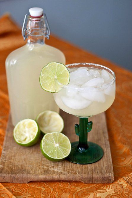 DIY Margarita Mix - say goodbye to the neon green stuff in the bottle. Use stevia instead of sugar for low cal