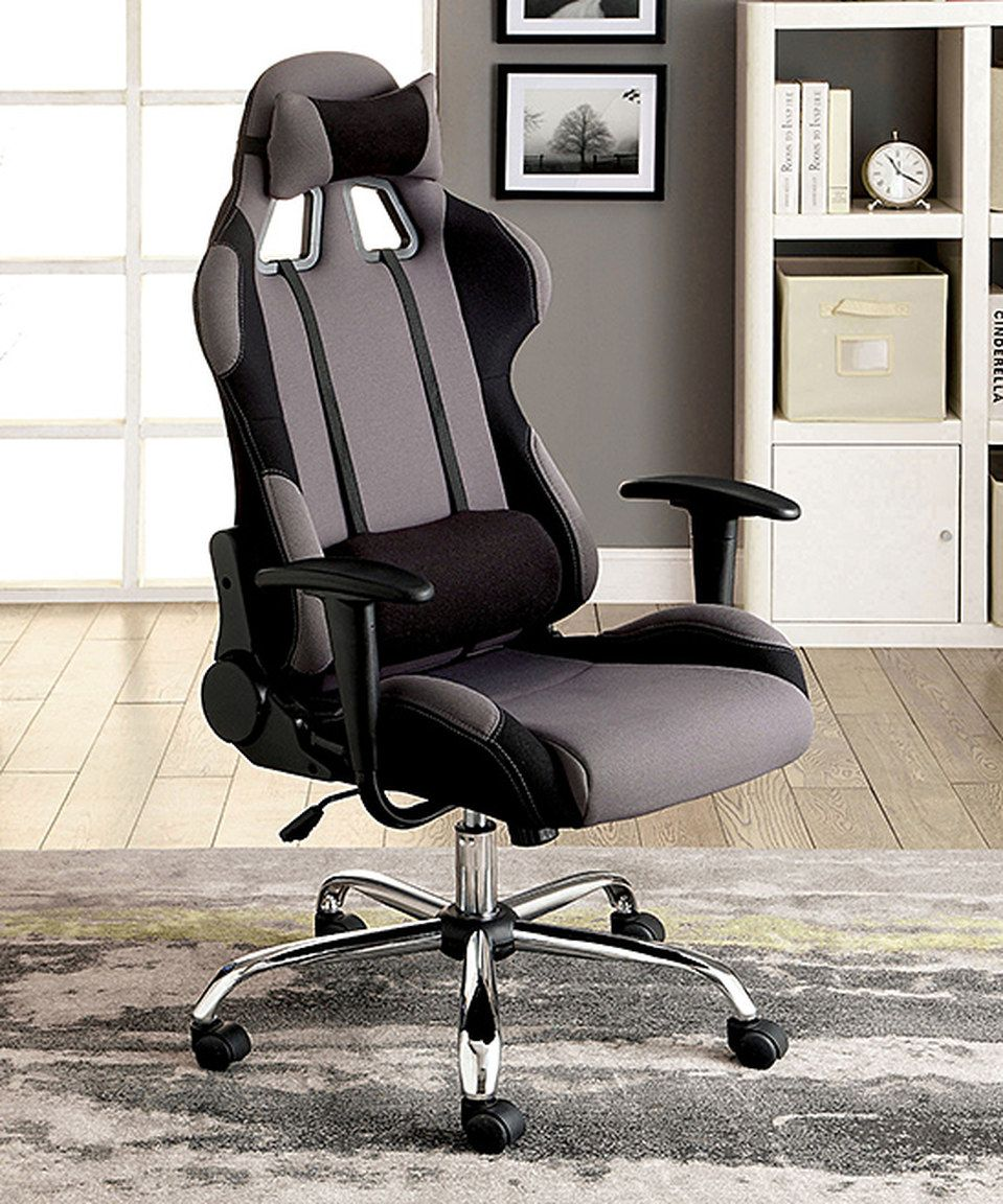 reclining office chairs. Serendipity Gray Kilion Padded Reclining Office Chair Chairs N