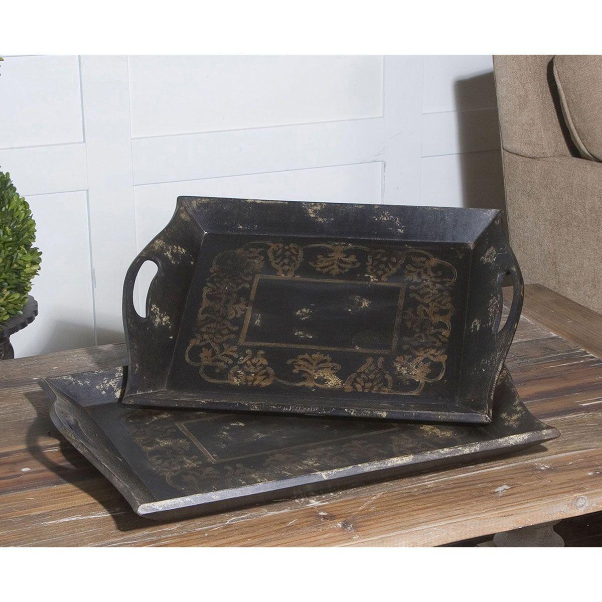 uttermost melani antique trays set of 2 19743 uttermost melani antique trays set of 2 19743   uttermost      rh   pinterest