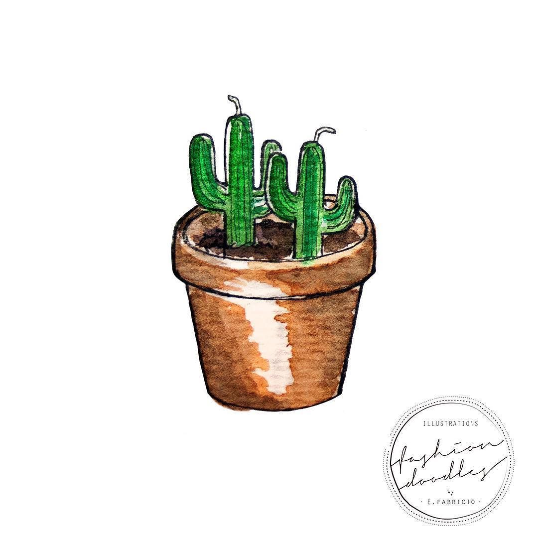 Plants at home? Catctus candles into a vase and no worries!  #fashiondoodles #illustration #cactus #candel #nature #green #homedecor #plants #vase by fashiondoodles