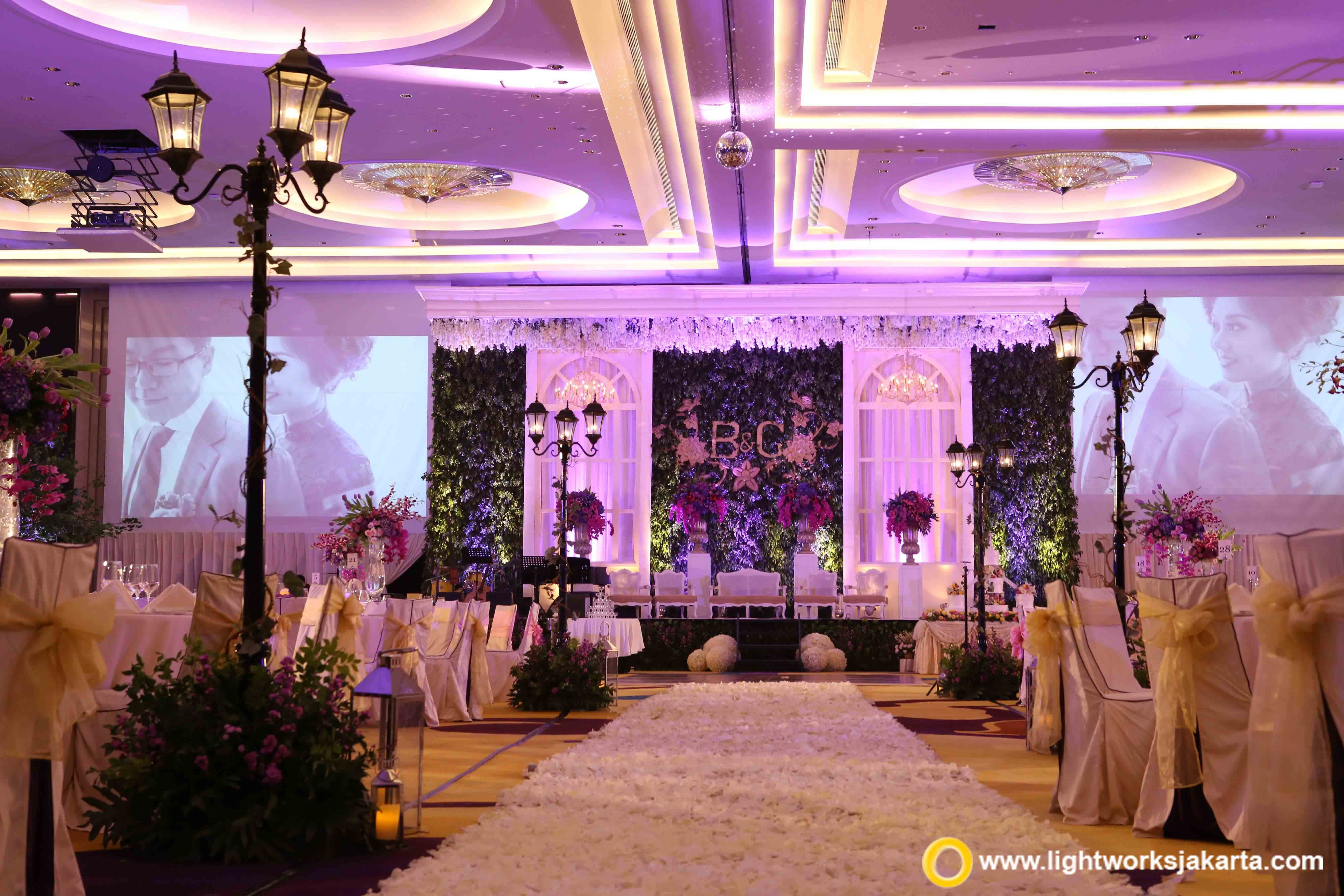 The purple wedding foyer by grasida decoration and lightworks at the purple wedding foyer by grasida decoration and lightworks at manggala wanabakti lightworksjakarta wedding decoration and lighting junglespirit Images