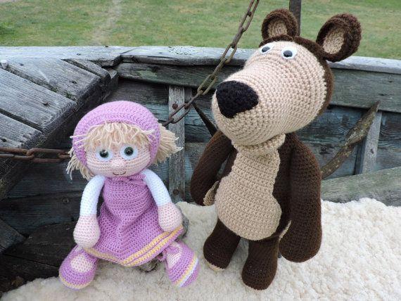 Amigurumi Doll Book : Amigurumi crochet pattern masha and the bear the russian girl