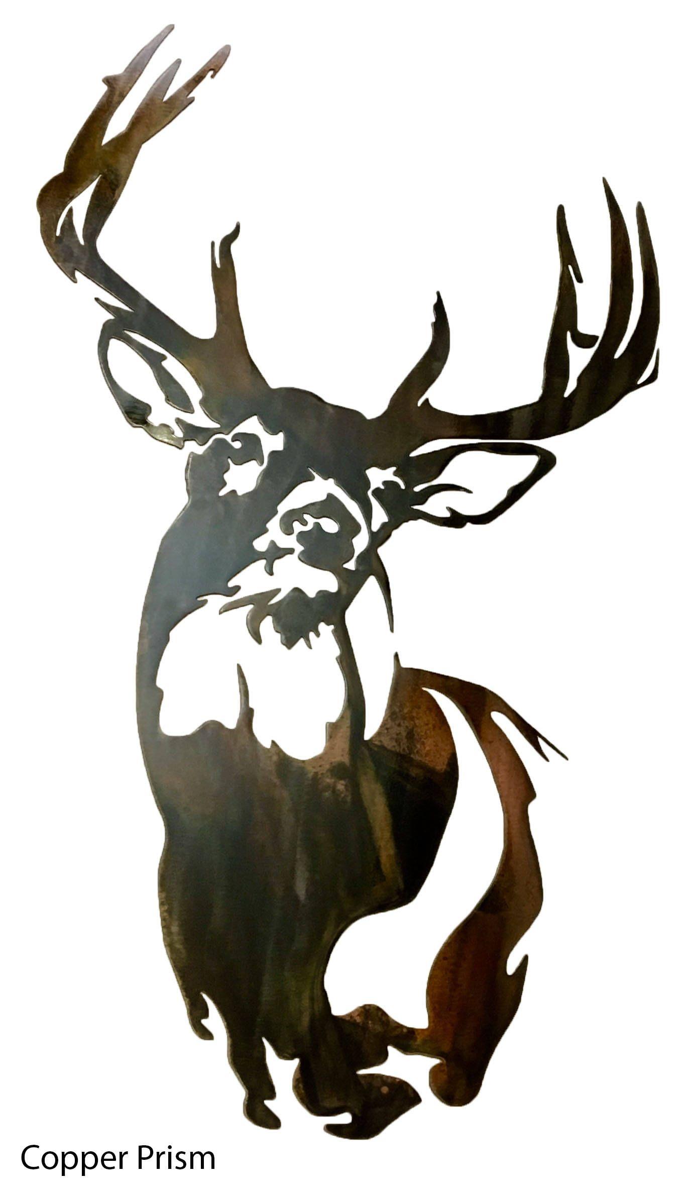 Buck /& Deer Scene Black Metal Key Hook