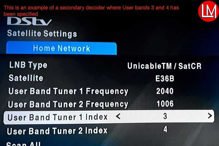 Most Dstv Decoders Xtraview Configuration With Slnb Or A Diplexer Configuration 3 Network Home Network
