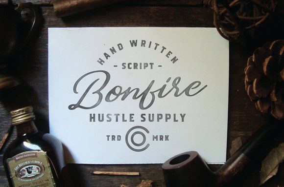 Bonfire (Test For Free) by Hustle Supply Co. on @creativemarket