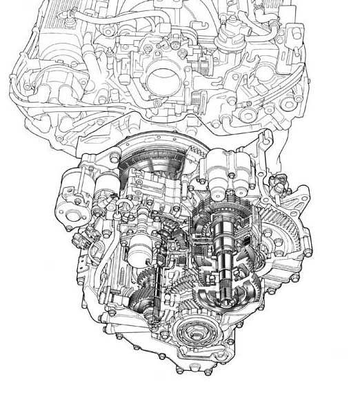 Engine And Transmission Line Art