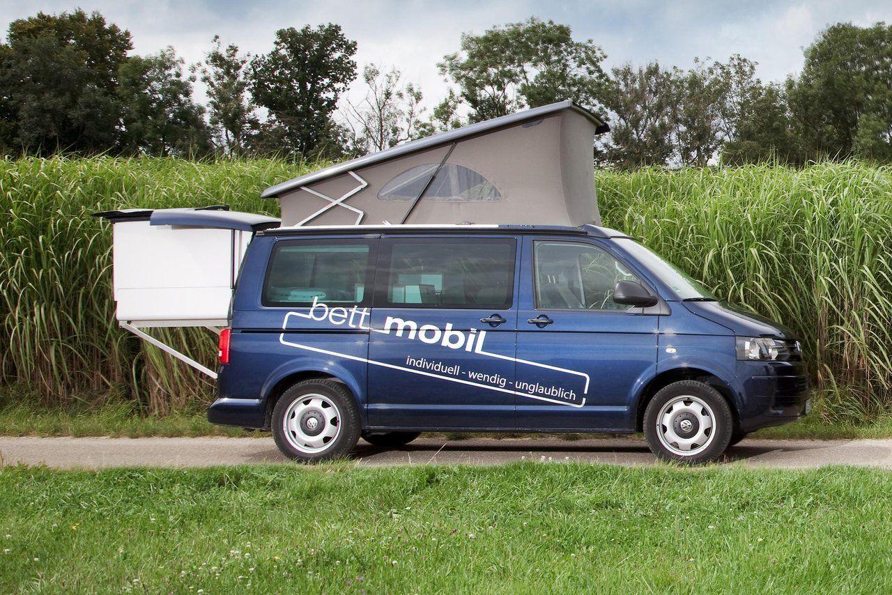Bettmobil Slideout Bed Box VW T5 Aufstelldach Hubdach