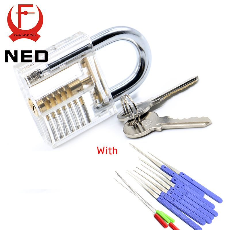 Ned Transparent Visible Pick Cutaway Practice Padlock Lock With
