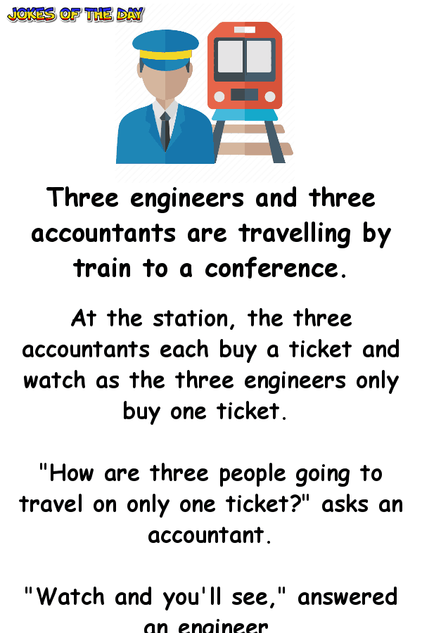 Three Engineers And Three Accountants Are Travelling By Train To A Funny Engineering Quotes Engineering Humor Quotes Engineering Quotes