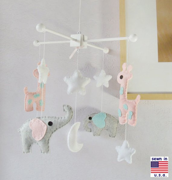 Baby Mobile Crib Elephant