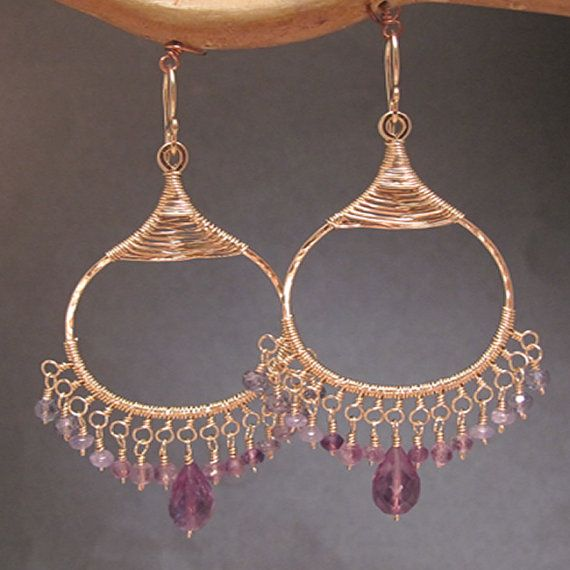 Filigree earrings with your choice of by CalicoJunoJewelry on Etsy