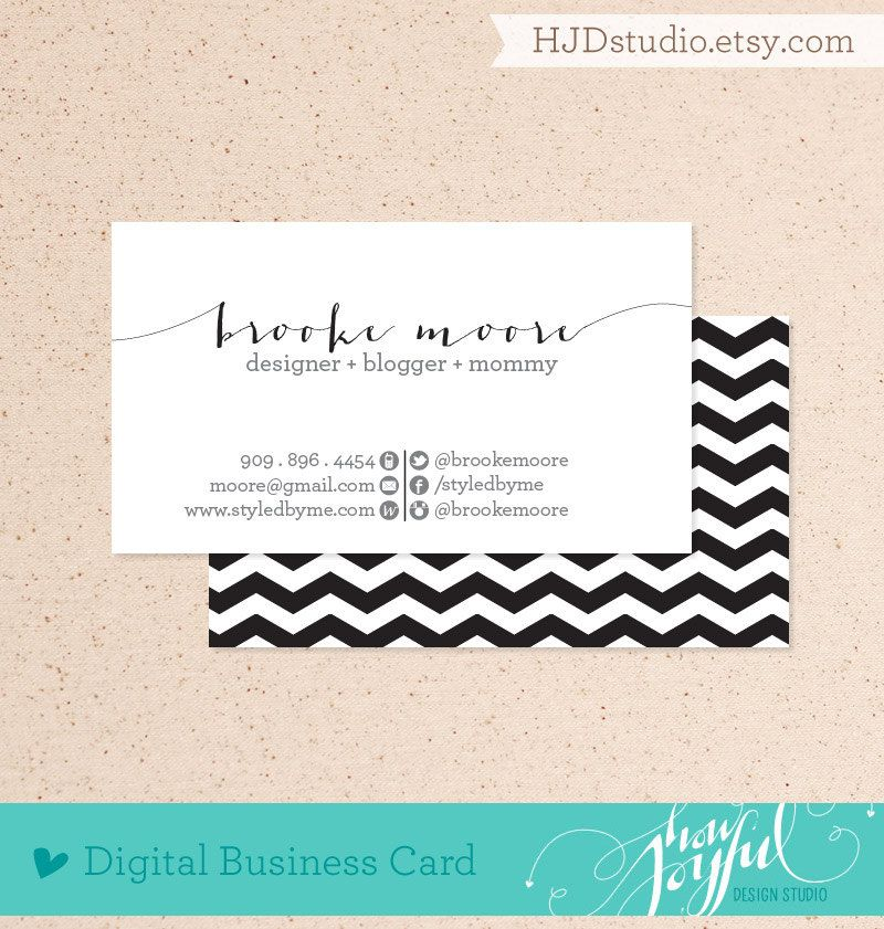 Chevron business card digital file via Etsy | Stationary and ...