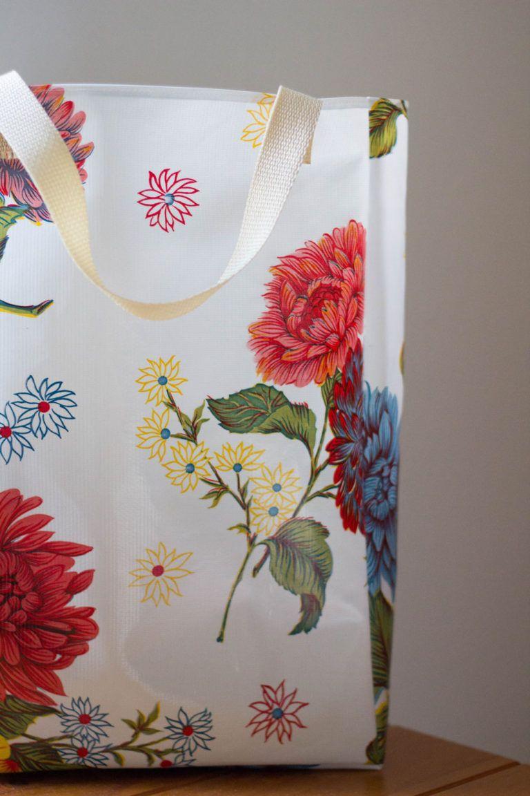 DIY Reusable Grocery Bag; Free PDF sewing pattern