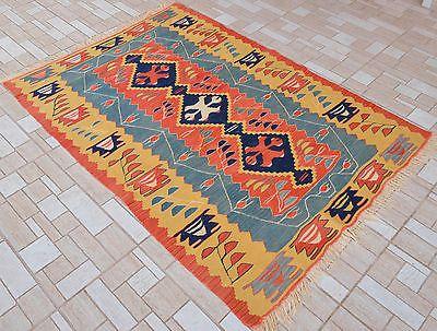 Anatolia-Turkish-Kilim-44-x-64-Hand-Woven-Pure-Wool-Kelim-Rug-113-cm-x-162-cm