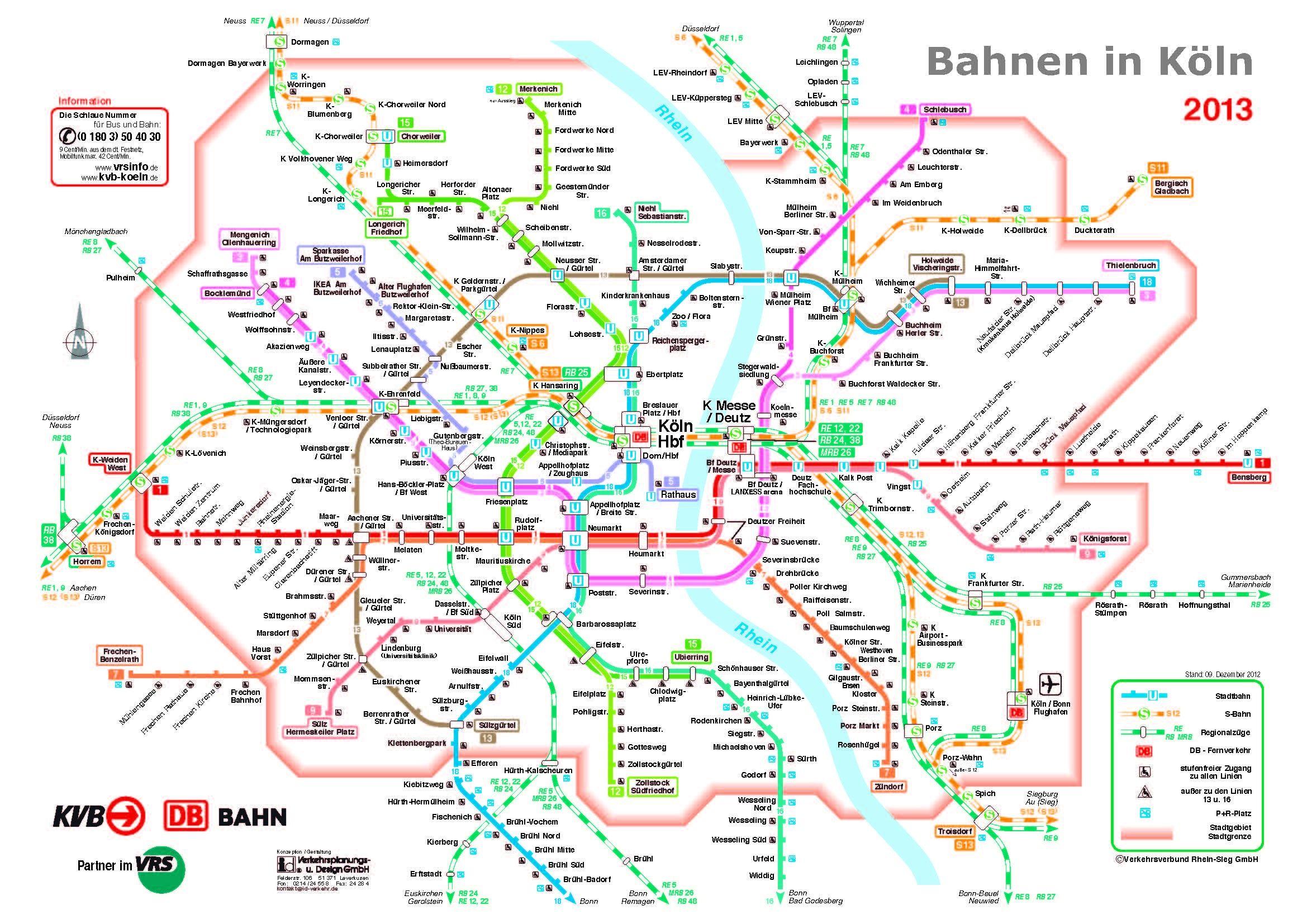 Ubahn Netz Köln