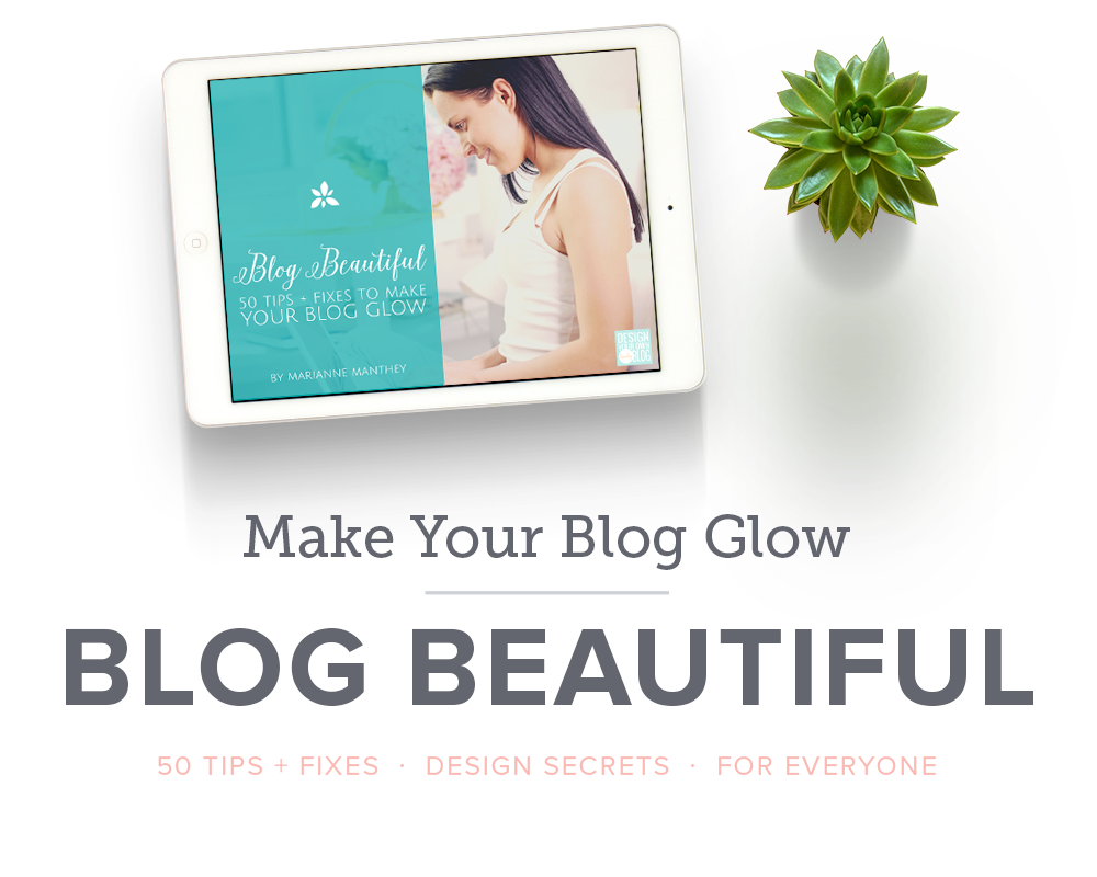 Your blog design tells people you're serious about what you do. So take it seriously and beautify that blog! Take your blog from Ugly to Lovely with Blog Beautiful: 50 Tips + Fixes to Make Your Blog Glow!