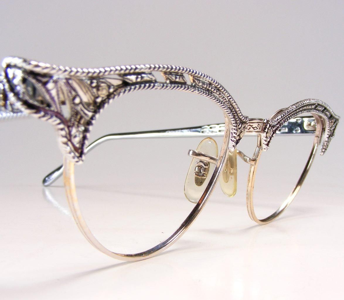 6e85c7e6a0d Retro Glam Eyewear  this season s must have accessory. ANTIQUE SILVER  EYEGLASSES - Antique Scrimshaw and more at