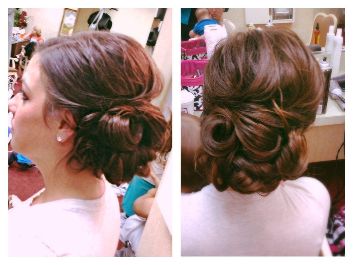 Bridesmaid Hair Elegant Hairstyle Low Bun Updo