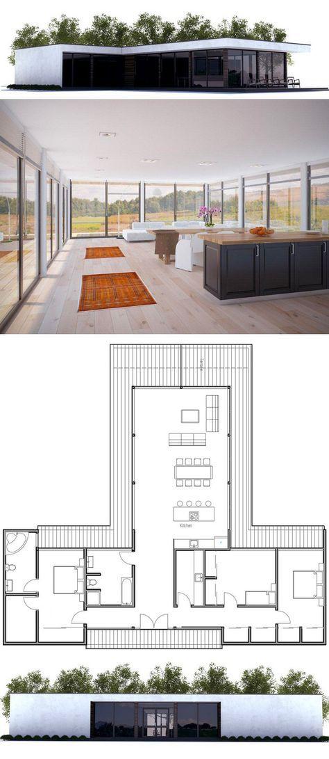 Plan de Maison Love the layout, but too modern Could easily change - plan de maison design