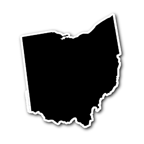 Ohio Outline Sticker Decal Vinyl OH