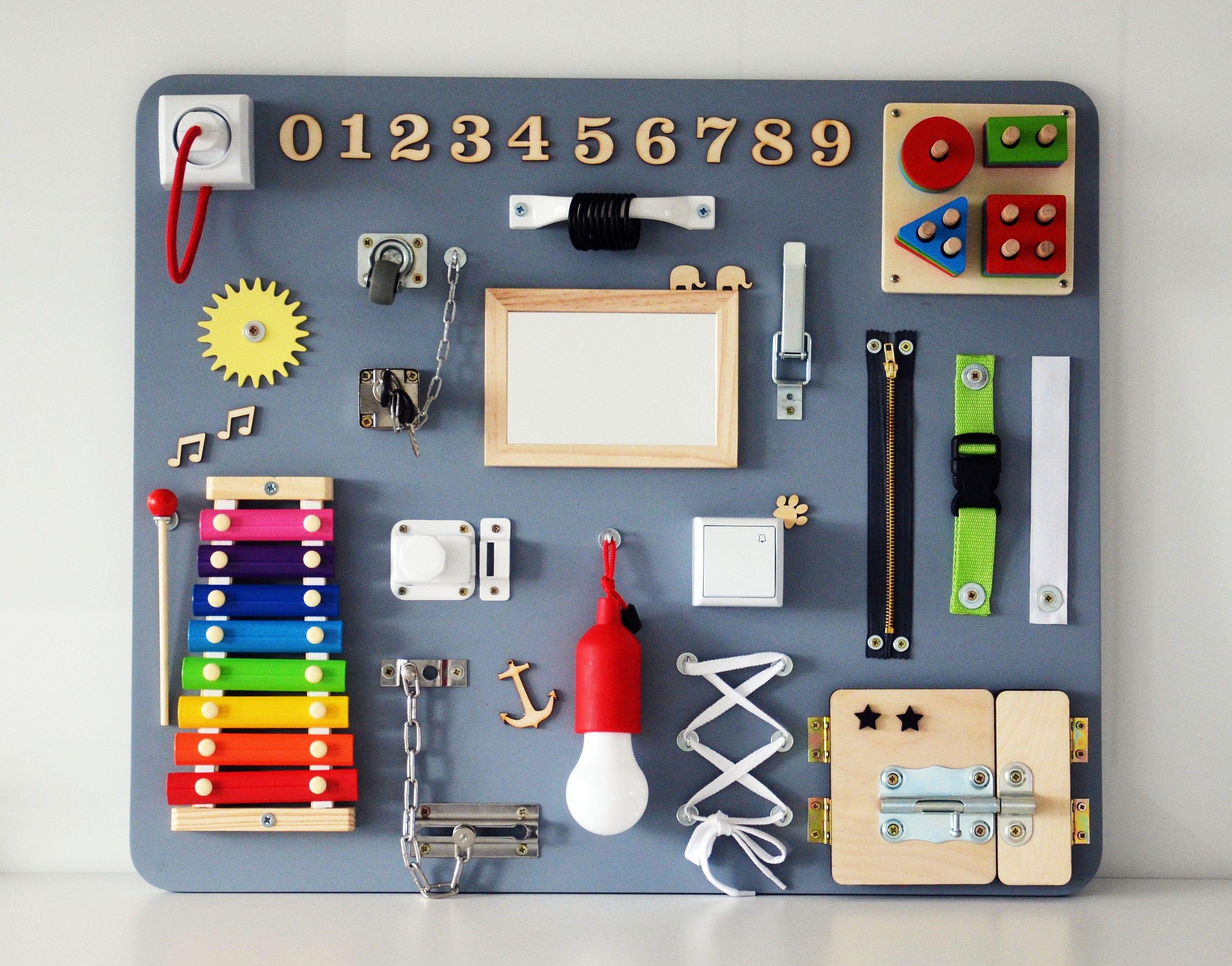Tablica Manipulacyjna Busy Board Montessori Activity Board Busy Board Montessori Activities Busy Boards For Toddlers