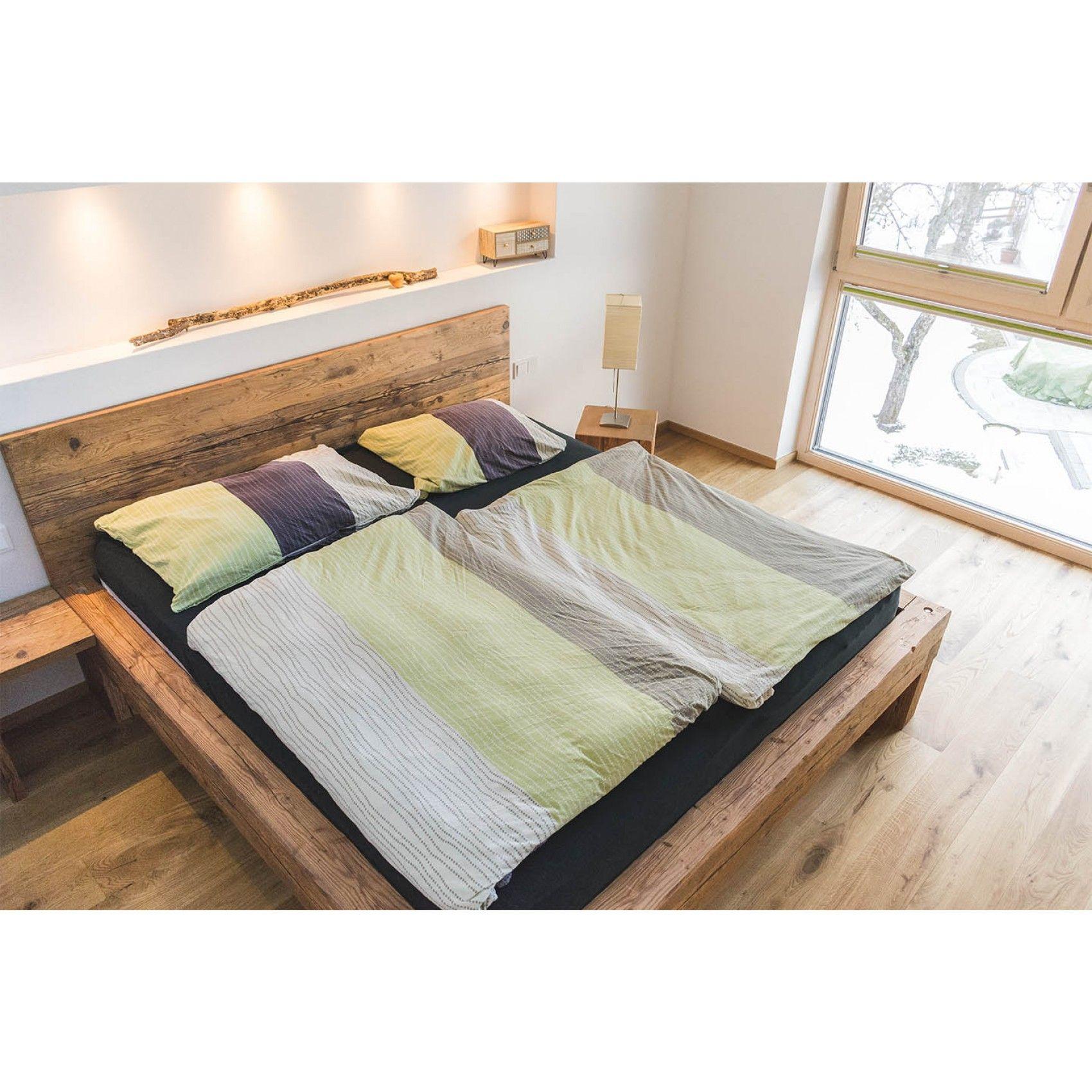 Balkenbett Altholzdesign Tirol 02 in 2019 Bett, Bett