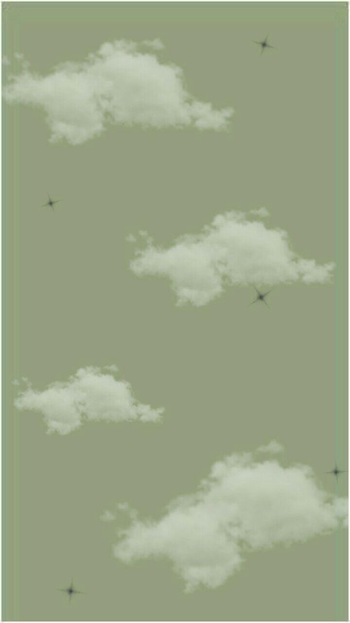 Green Clouds Aesthetic Wallpaper Estetika Hijau Mint Foto Abstrak Estetika Hijau Aesthetic mint green clouds wallpaper