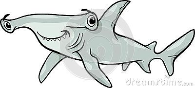 d2853343d6545 Hammerhead shark cartoon illustration