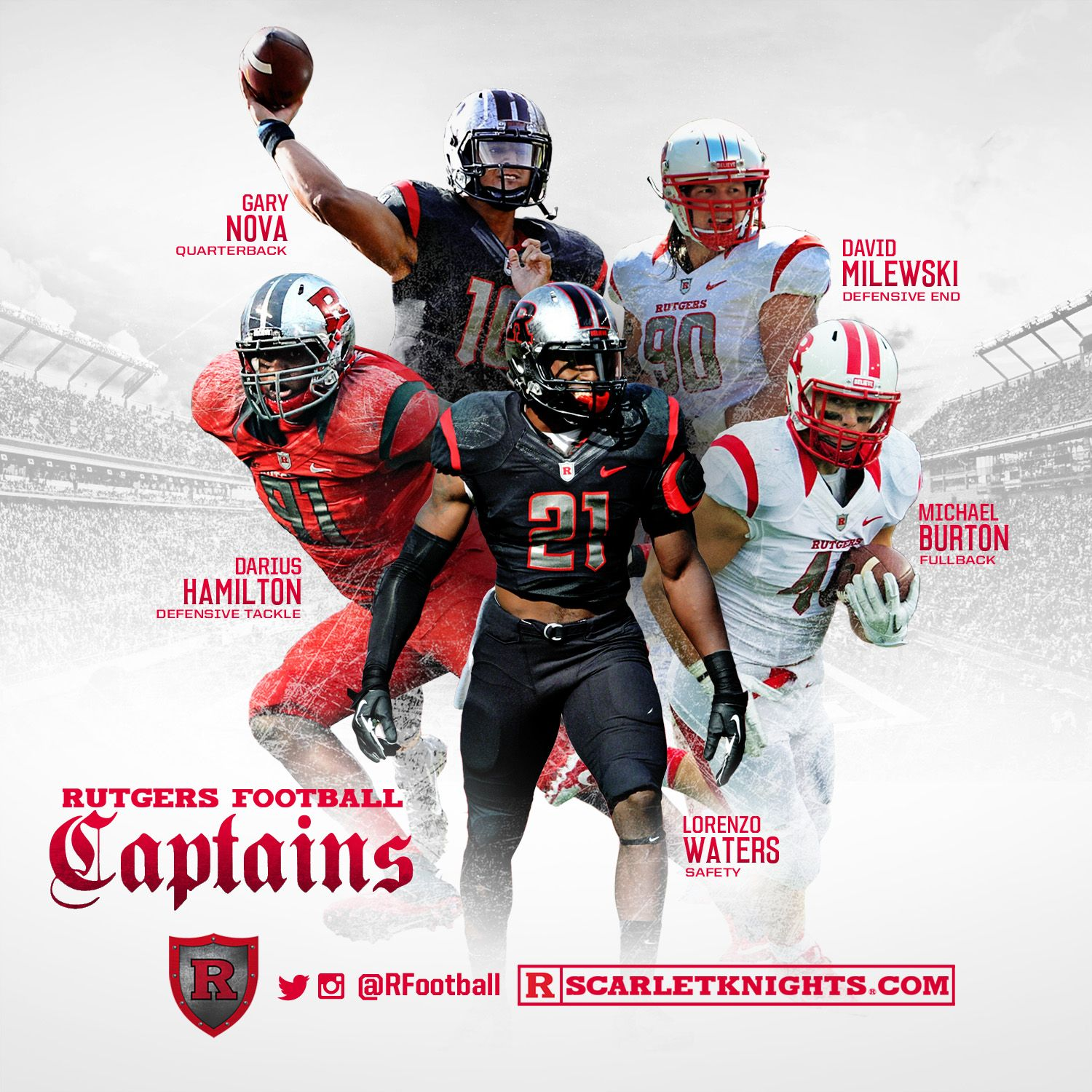 Your 2014 Rutgers Football Captains Thebirthplace Chopnation Rutgers Football Football Rutgers