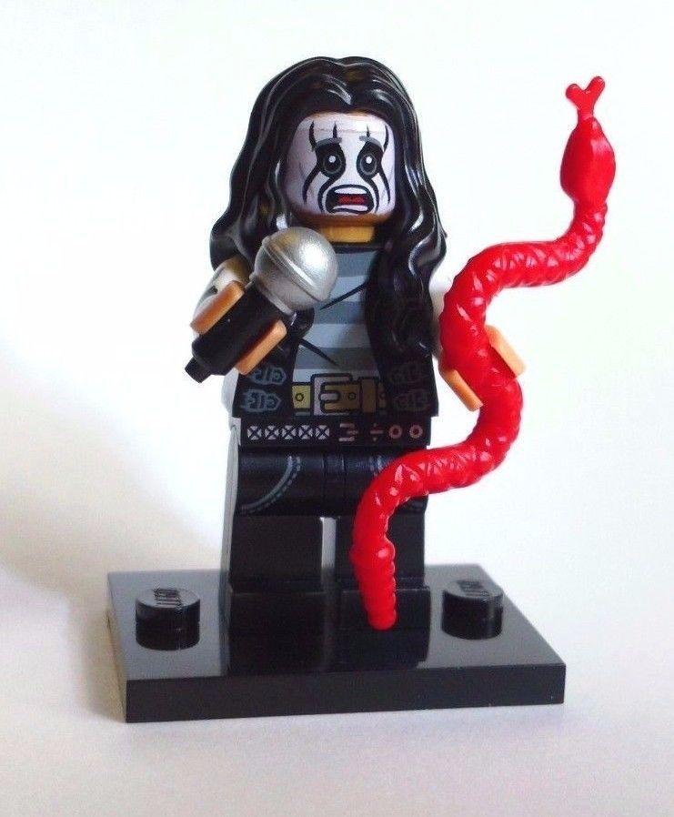 CUSTOM 100/% LEGO ROCKER HEAVY METAL ALICE COOPER ROCK STAR black printed arms