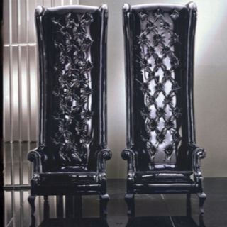 High back black mad hatter chairs & High back black mad hatter chairs | H O N G K O N G H O U S E ...