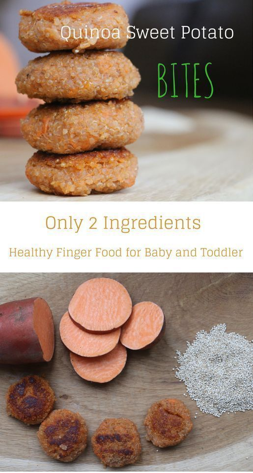 Sweet Potato Quinoa Bites - Feeding Bytes Quinoa sweet potato bites: Only 2 ingredients, nutritious