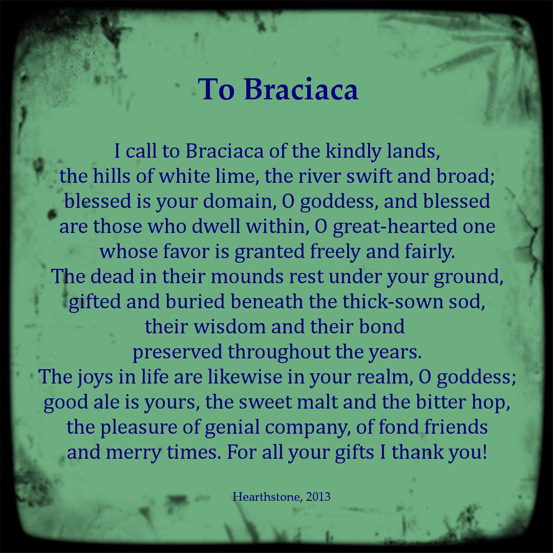 A Prayer To The Gaulish Celtic Goddess Braciaca Celtic Deities Celtic Gods Celtic Goddess