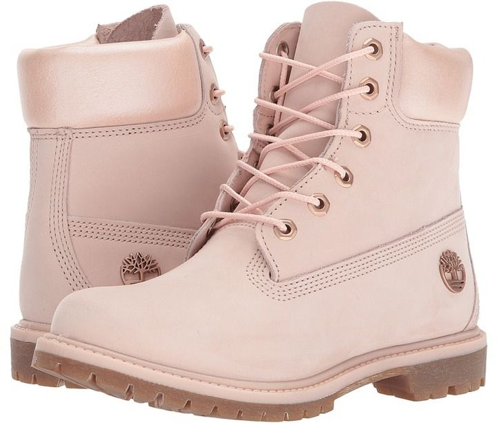 Timberland  6 In Shearling Boots Waterproof Rose Mädchen Stiefel