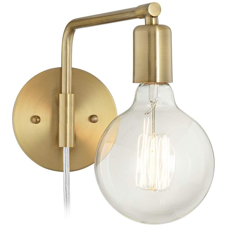 Amara Antique Brass Wall Lamp Set Of 2 34a87 Lamps Plus Plug In Wall Lamp Wall Lamp Brass Wall Lamp