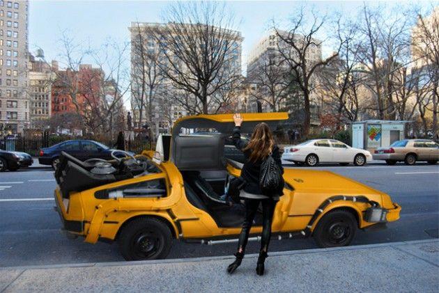 delorean taxi cab