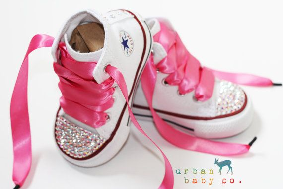 Infant, Toddler Baby Girl Hi Top White Converse All Star