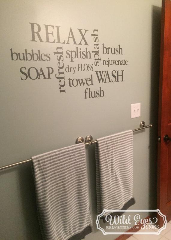 Bathroom decor bathroom subway art 18h x 39w by wildeyessigns