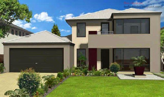 Fachada de casas sencillas y peque as fachadas facade for Fachadas de casas modernas en italia