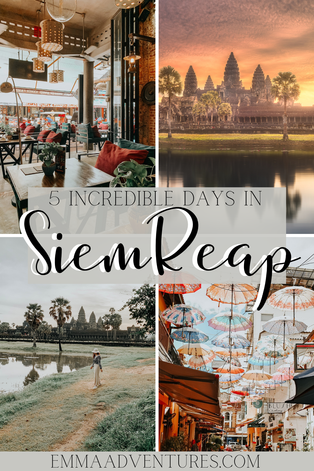The ultimate travel guide to Siem Reap, Cambodia! These are the 9 best things to see and do in Siem Reap, plus the best places to eat and drink in Siem Reap, where to stay, plus Cambodia travel tips! Don't miss checking out this epic Siem Reap travel guide! #siemreap #cambodia #cambodiatravel #southeastasia