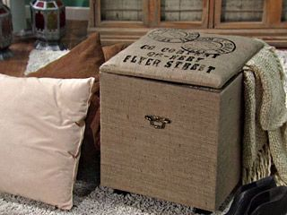 Manualidades y artesan as puff r stico con arpilleras for Utilisima reciclaje muebles