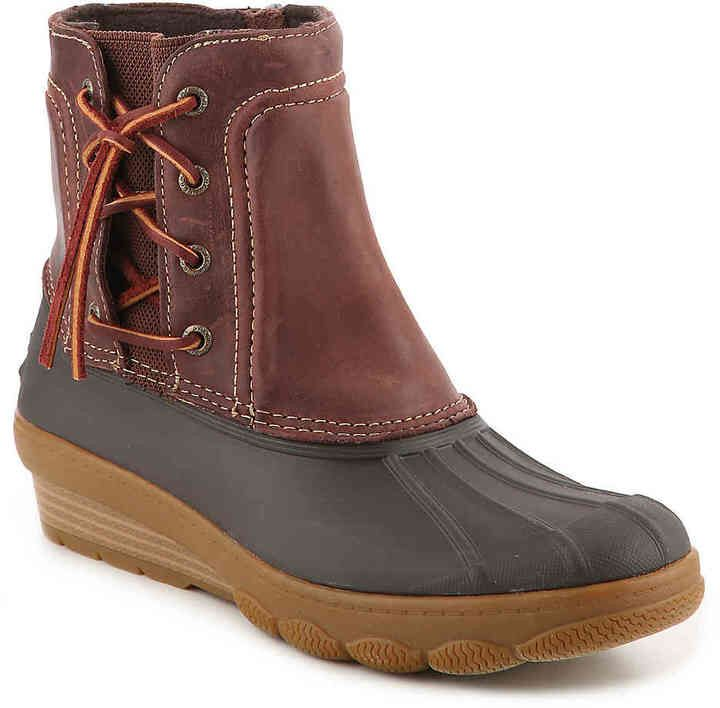 72051a4658a Sperry Top-Sider Women s Saltwater Spray Wedge Duck Boot  ad ...