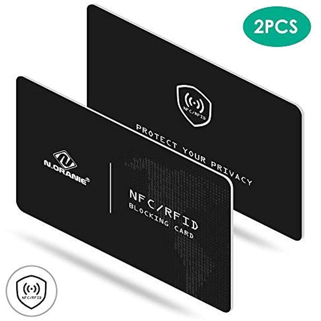 Carte Bleue Pcs.N Oranie Rfid Nfc 2 Pcs Carte Protection Bloqueur Etui Carte