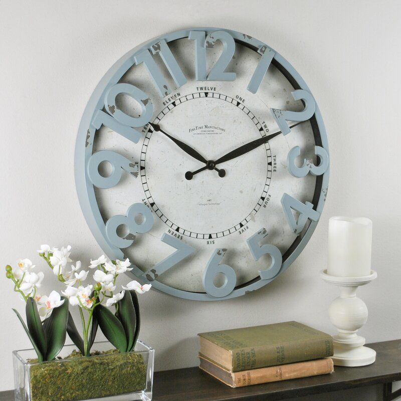 Firstime Firstime Co Antique Harbor 11 Wall Clock Wayfair In 2020 Round Wall Clocks Wall Clock Clock